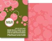 Monogram Wedding Invitations, Monogram Party Invitations, Birthday Invitations - Style PIL-013