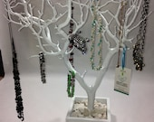 Jewelry holder, Large Painted Jewelry Organizer, Jewelry Tree