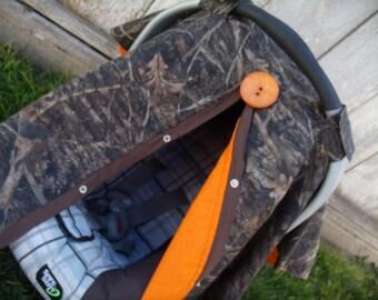 Carseat Canopy Camo Orange Hunting