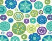 Sewing Box, Moda Fabric, Gina Martin, Buttons, 1/2 Yard