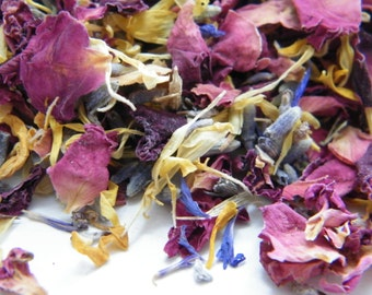 Hand mixed real confetti petals with dried roses, lavender, cornflower and marigold 1Kg (2lb)