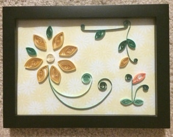 Yellow Flower Quilling