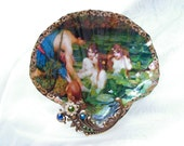 Nymph's At Play Large Shell Jewelry Dish