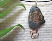 Rock Beach Stone Pebble Necklace Hand Painted