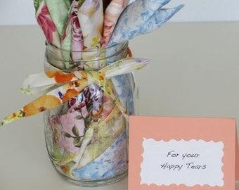 Bulk  Wedding Handkerchiefs, Favors for Happy Tears,  Variety hankies for wedding guests, Vintage inspired,  Shower or Wedding favors,  Han
