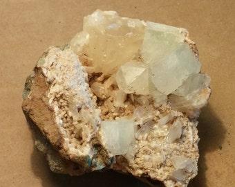 Beautiful Apophyllite and calcite specimen