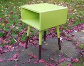 READY NOW - Customize the colors Mid Century End Table