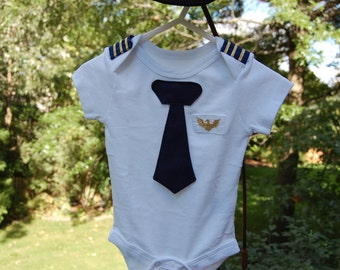 Airline Pilot One Piece Bodysuit