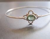 PERIDOT FLOWER bangle bracelet