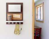 KIRBY: pet organizer modern wall mount hanging storage leash collar hooks treat holder shelf dog walker message center entry kitchen decor