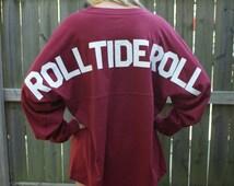 College Jersey, Custom College Jersey, Alabama Roll Tide, War Eagle, Auburn Jersey, Alabama Shirt, Custom Spirit Shirt Jersey, School Spirit