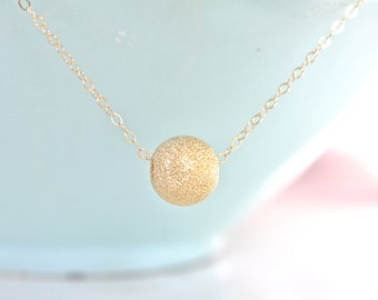Gold Necklace, Dainty Gold Necklace, Gold Nugget Necklace, Simple Necklace, Bridesmaid Necklace, gifts for her, best friend gifts girlfriend
