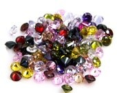2mm Round CZ Multi Color Mix Cubic Zirconia Loose Stones Lot
