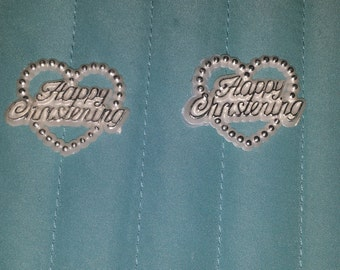 25 sweet  happy.  christening  for favors /capias