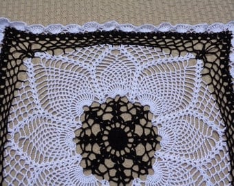 Large Square Crocheted Doily