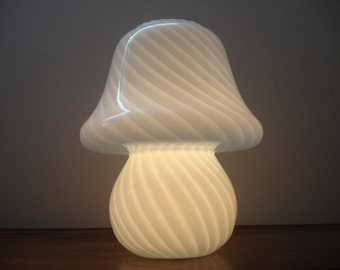 Vetri Murano Mushroom Lamp Mid Century Vintage Art Glass