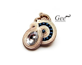 "Soutache brooch ""Sea shell"". Free shipping!"