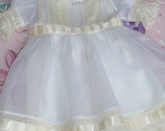 White Italian Organdy Dress and Slip