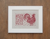 The Rooster Alphabet Sampler - Direct Download Cross Stitch Pattern
