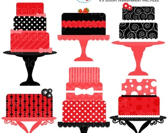 Red Cake Clipart : Etsy :: Your place to buy and sell all things handmade