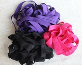 Fold over elastic  3   colors 2 of each color 5/8 inch wide