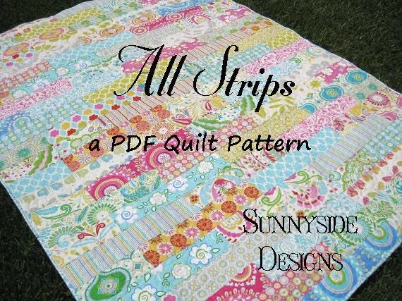 Pdf Quilt Pattern All Strip Fat Quarters By Sunnysidefabrics