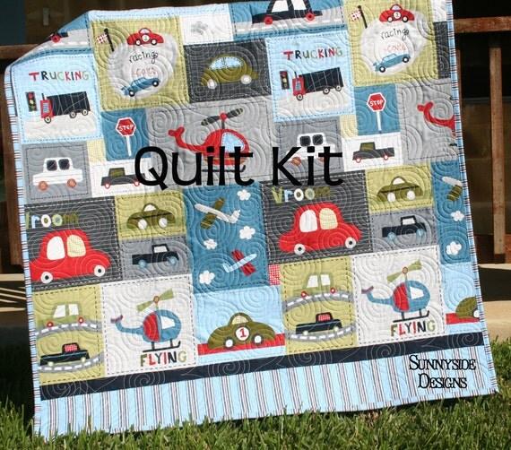 Vroom Toddler Quilt Kit Leslie Grainger Robert Kaufman