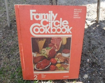 Vintage 1970s Family Circle Cookbook Volume 2 All About Meat 1973 Hard Cover