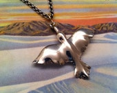 Dawn Bird st  silver & 18k gold Pendant necklace