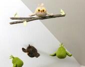 Woodland Mobile, Baby Mobiles, Owl Mobile, Bird Mobile, Baby Mobile Hanging, Owl Nursery, Bird Nursery, Gender Neutral Mobile, Branch Mobile