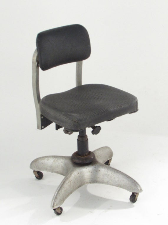 vintage industrial metal office chair metal. Items Similar To Goodform Metal Office Chair Vintage Propeller Base General Fireproofing Adjustable Tanker Type Antique GF Aluminum 1940u0027s Industrial 1 K