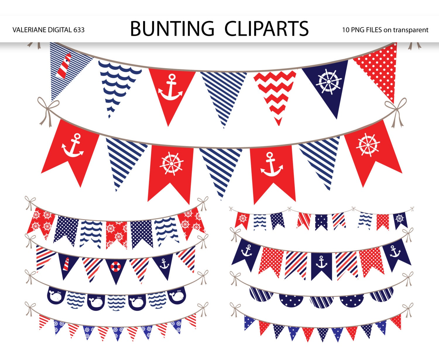 Nautical Bunting banner clipart nautical clipart bunting