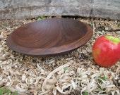 Walnut Wood Bowl Hand Turned Wood Bowl Large Salad Bowl  Dough Bowl Wooden Bowl Large Bowl Rustic Hand Turned Wood Bowl