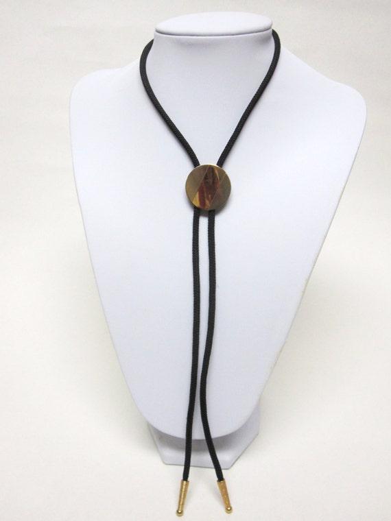 Bolo Tie Lariet String Western Necktie Gold Silver