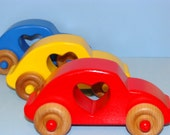 Love Bugs VW Wooden Cars ( Set of 3)