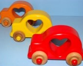 HEARTS ME Special Edition -  Wooden Toy Cars (Set of 3) - a great gift idea