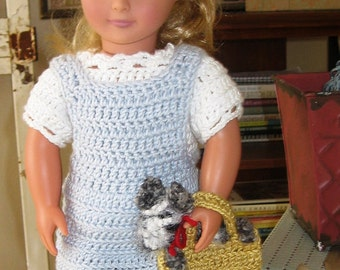 American Girl Crochet Pattern Dorothy and Toto Outfit Crochet Pattern PDF Instant Download File Doll Clothes