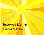 Reserved Sunshine polishing cloth for Bulpitt