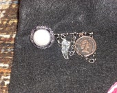 Pearl Button and Coin Pin