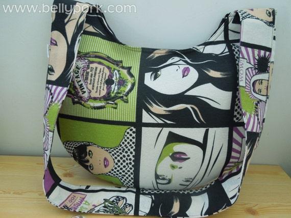 Tote bag,canvas tote bag,fabric tote bag,comic tote bag,fabric tote,canvas tote,crossbody bag,crossbody handbag,fabric maxi bag fabric