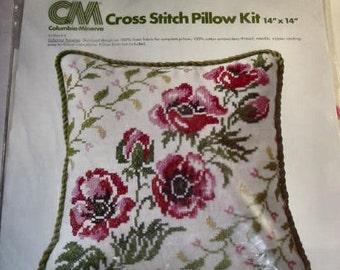 1977 Columbia Minerva Cross Stitch Pillow KIt
