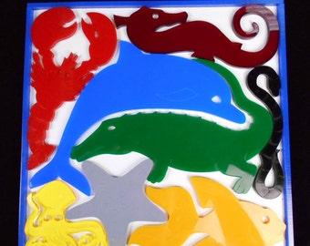 Sea Creatures Puzzle - JUMBO acrylic model brain teaser