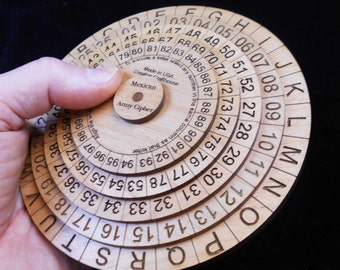 Mexican Army Cipher Disks - Encryption wheels - historical, powerful, easy to use