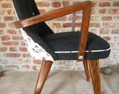 1960s Benn Chair in Pinstripe and Vintage Floral