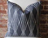 Handcut Shapes - Charcoal-  Pillow Cover - 20 in square - Designer Pillow - Decorative Pillow