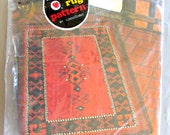 Latch Hook Rug Canvas Kazak Red Heart by Coats & Clarks   Southwest Design Vintage