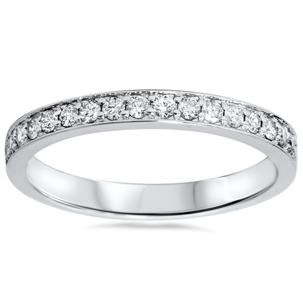 1 3ct diamond wedding ring stackable womens band anniversary