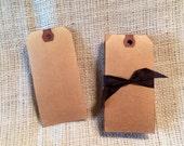 Aged Tags Medium Bulk 100  2 3/8 X 4 3/4 inch shipping tags