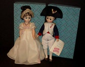 """Josephine and Napoleon  12"""" Madame Alexander Dolls NRFBw/Tags Vinyl with Rooted Hair"""