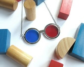Loyd 3D glasses necklace, acrylic glasses for anaglyph image